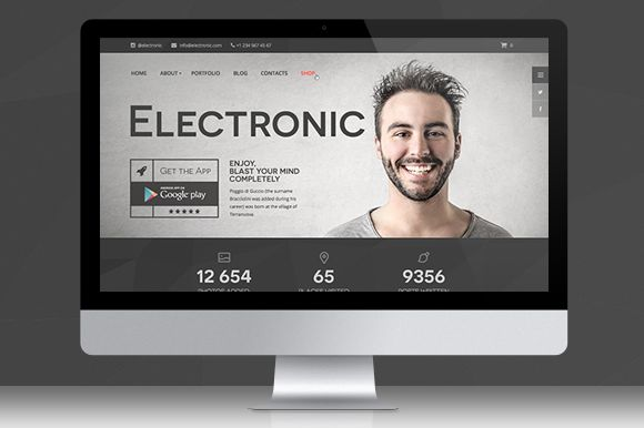 Check out Electronic | PSD Template on Creative Market