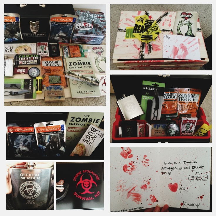 Made my boyfriend a Zombie Apocalypse Kit for Valentine's ...