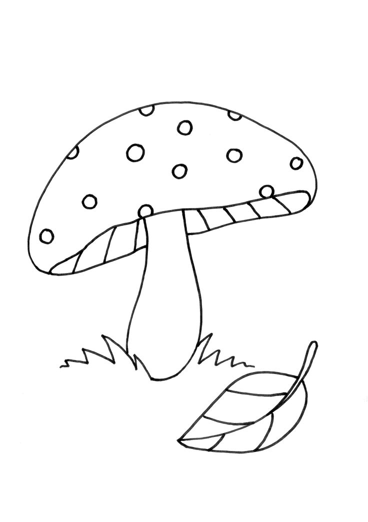 mushroom drawing colouring pages page 2 - Drawing And Colouring
