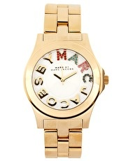 Marc By Marc Jacobs Gold Bracelet With Multi Colour Dial Watch