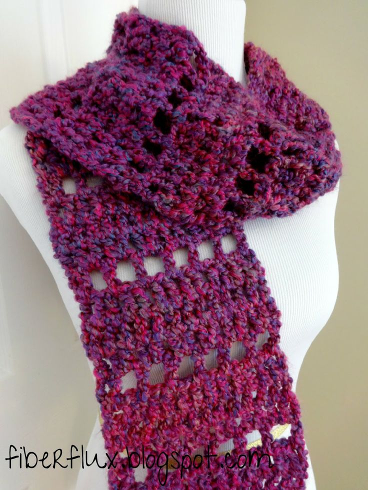 Fiber Flux...Adventures in Stitching: Free Crochet Pattern...Mulberry Scarf!