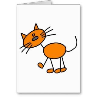 Stick Figure Cat T shirts and Gifts cards by stick_figures