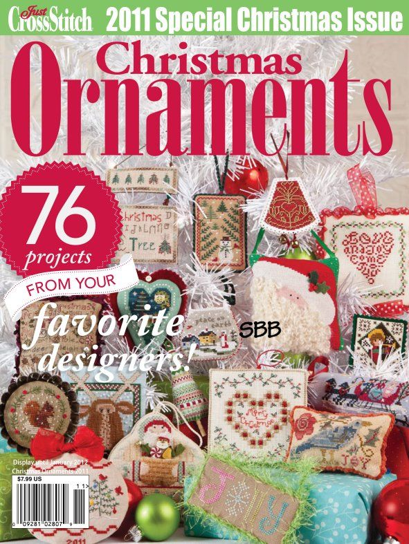 Just Cross Stitch 2011 Christmas Ornament Issue