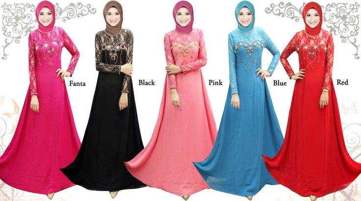 Gamis/Jubah by In Her Store Indonesia – Lady Rose Series Material : Chiffon Cerutti Retail Price : NOW Rp 275rb/pc Reseler Price : Rp 250rb/pc (min.3pcs, mix size & colours allowed)  PIN : 56EC4B97 Line : go2dika