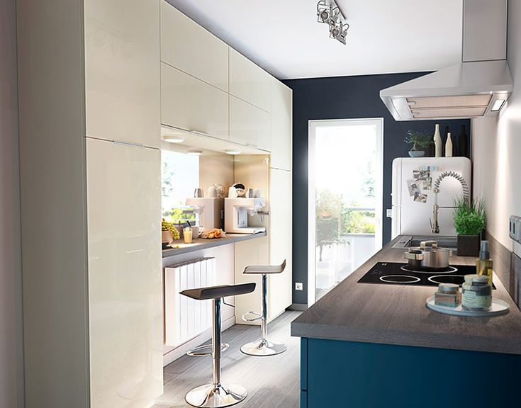 meuble de cuisine gossip sable et bleu castorama kitchens pinterest perspective cuisine. Black Bedroom Furniture Sets. Home Design Ideas