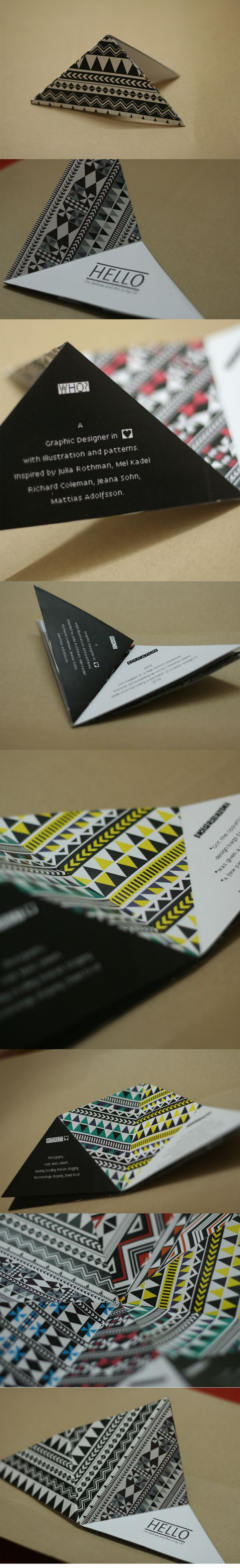 .: Give-away Resume/ Visiting Card :. by Dollcee Khattar, via Behance