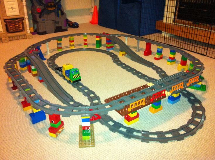 lego duplo elevated train track flickr photo sharing
