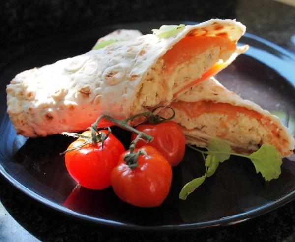 Scandinavian Smoked Salmon & Scrambled Egg Breakfast Wraps | Recipe