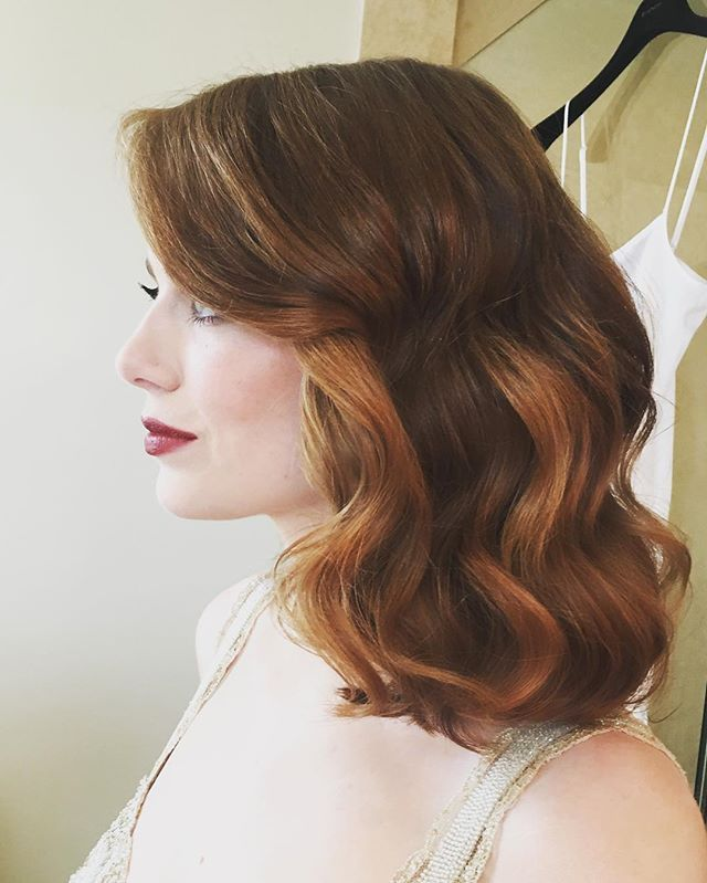 Uh, Emma Stone Used Only Drugstore Hair Products to Create Her Oscars Waves