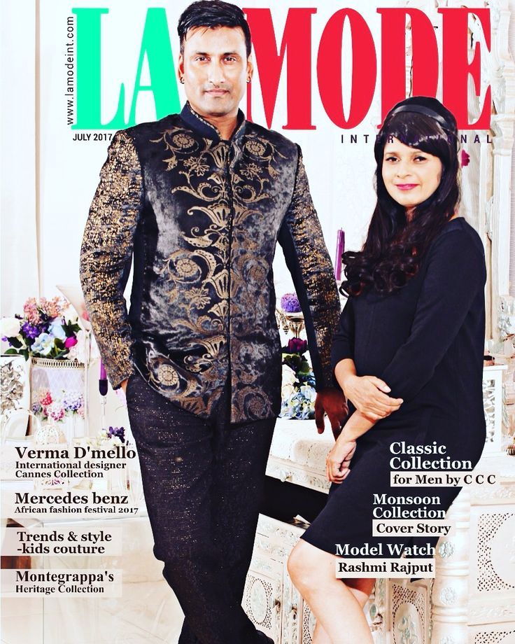 A Wonderful cover page &  Article on us.. by Team @La MODE International.#Suchhikumar #vermadmello #coverpage #magazine #fashion #lifestyle #india