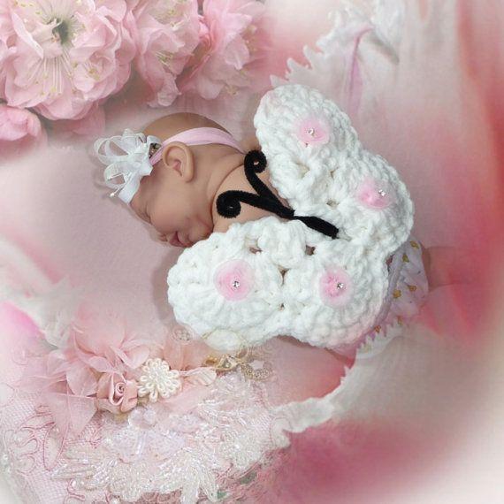 BUTTERFLY & HEADBAND Newborn Photo Prop by CraftCreationsEtsy, $14.95