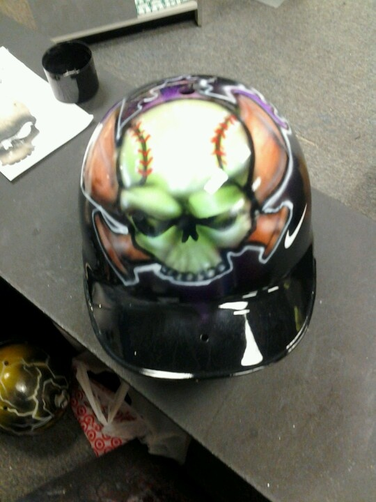 1000 Images About Airbrushed Batting Helmets On Pinterest