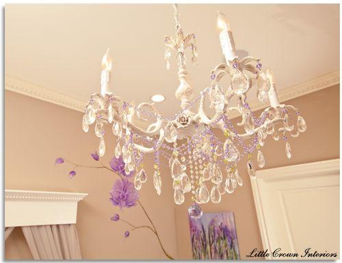 Girls nursery chandelier..