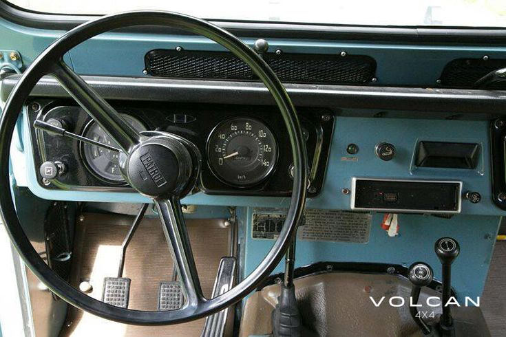 "Interior of 'Indigo', our rare-to-the-US, ""Hemmings Pick"" 1979 Nissan Patrol LG-60 from Volcan 4x4."