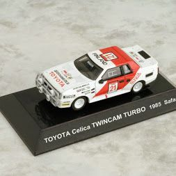 1/64 Japan CM's Rally Car Collection SS12 TOYOTA Celica TWINCAM TURBO No. 21 Safari 1985 Die-cast Figure Red White