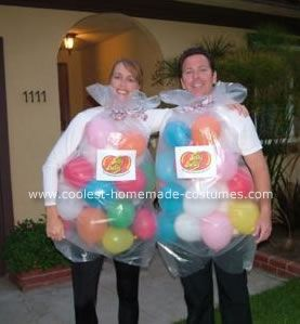 Jelly Belly Jellybean Couple Costume - looks do-able for a last minute
