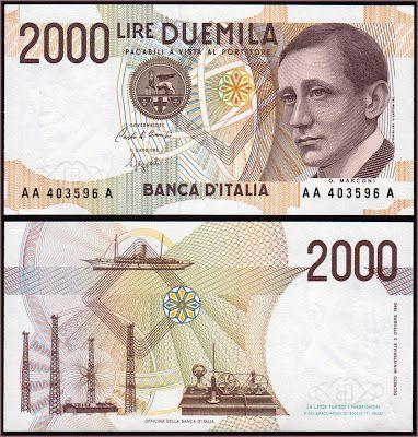 Collezione Personale di Banconote Italiane: 0.1.6. - 2000 LIRE MARCONI
