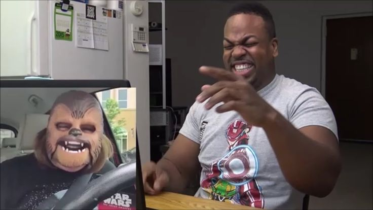 Laughing Chewbacca Mask Lady REACTION!!!