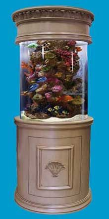 Cylinder fish tank - Luxury, all-inclusive seamless cylinder aquarium package, The Pearl