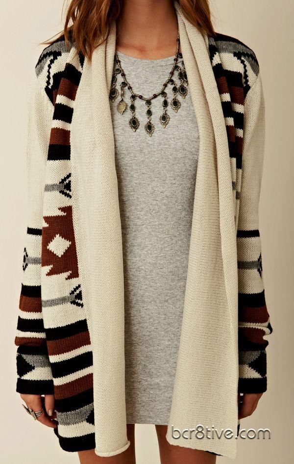 Native American Inspired  - BB Dakota Maya Pattern Cardigan || cute, but I wish it was longer.