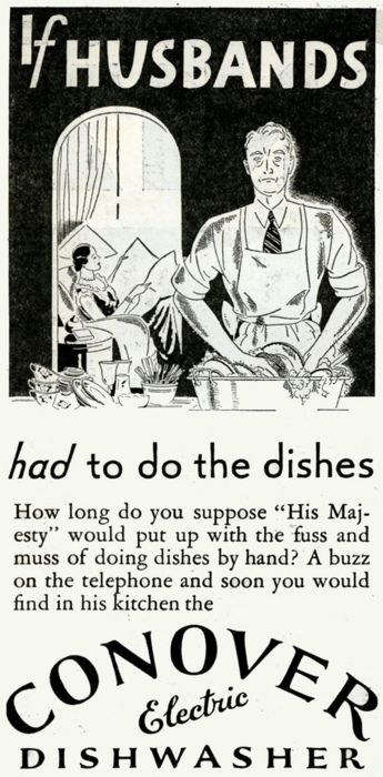 Conover Electric Dishwasher, 1931