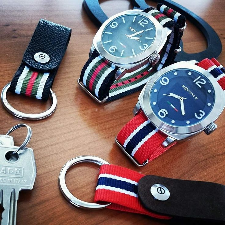 Zoppini watches and accompanying key rings, a great look! #zoppini #watch # jewelery # men #mensfashion #fashion # style