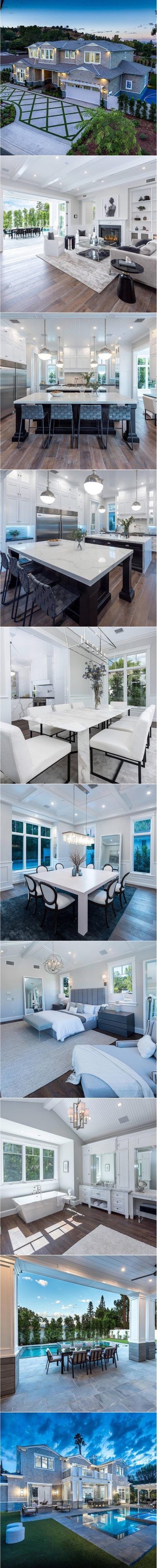 New Smart Home Sherman Oaks California Love This Open Kitchen
