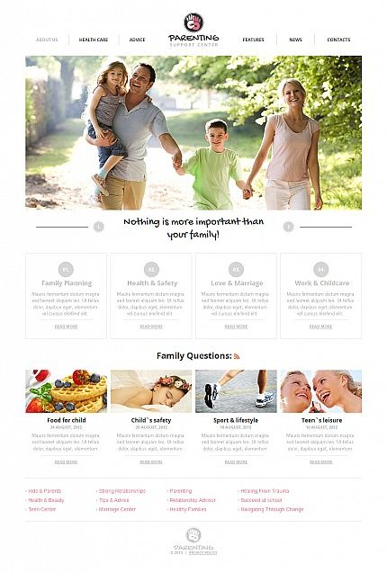 Parenting Family Moto CMS HTML Templates by Glenn