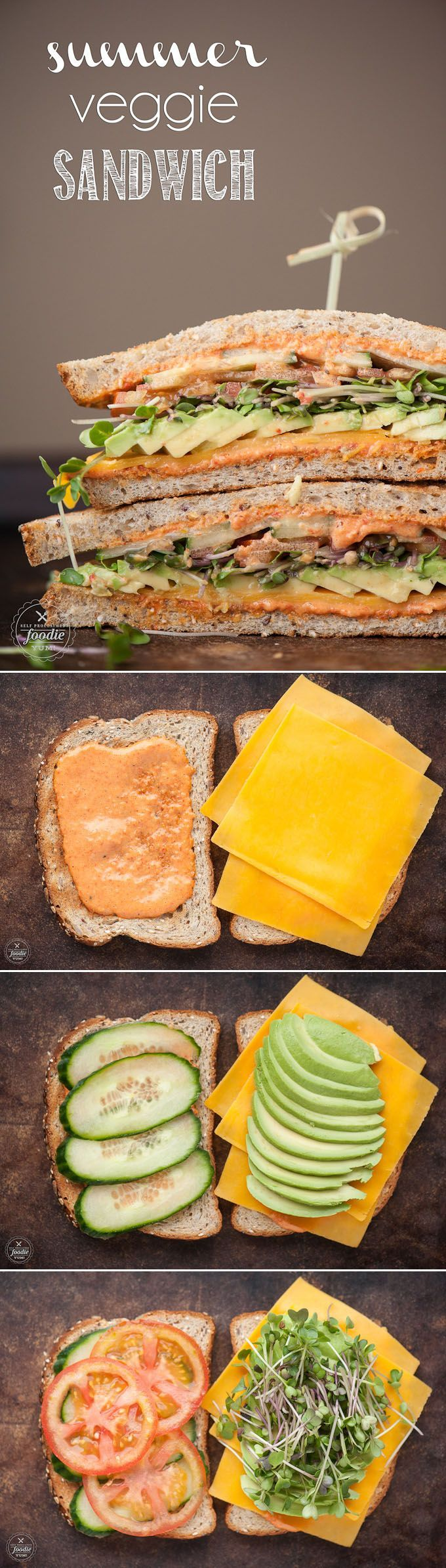Can you think of a better way to enjoy summer than enjoying a lovely picnic outdoors while enjoying something like this Summer Veggie Sandwich?