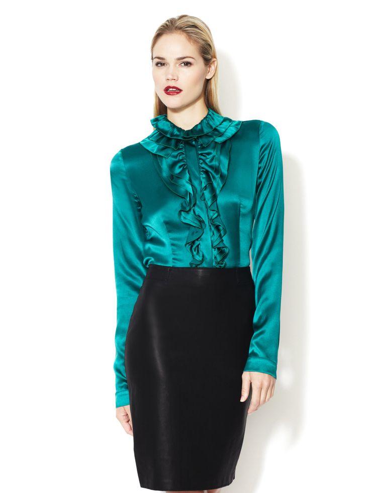 Plus Size Green Blouse