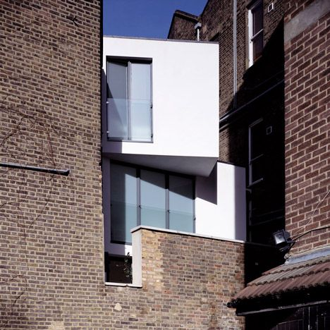 A London house sandwiched into a site less than three metres wide.