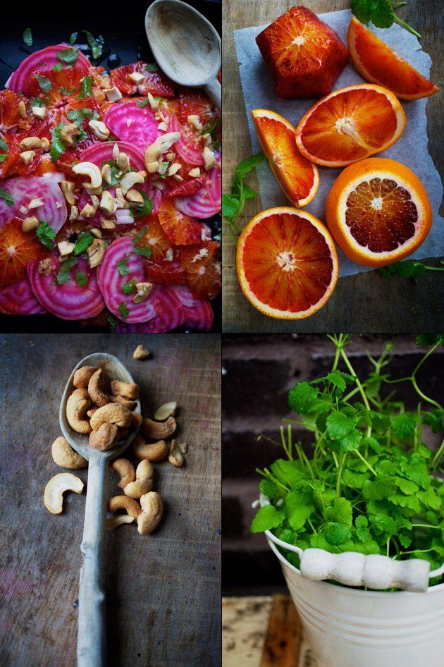Bolsjestribede rødbeder med blodappelsin – The Food Club
