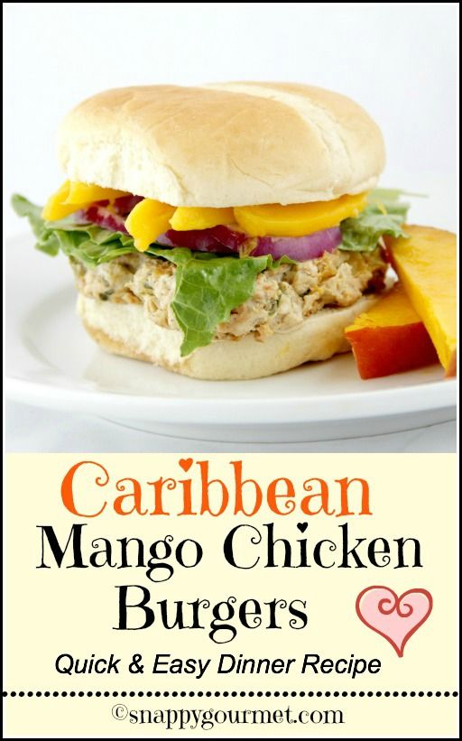 A little dry-add more to make it moister.  Caribbean Mango Chicken Burgers - quick & easy dinner recipe! snappygourmet.com