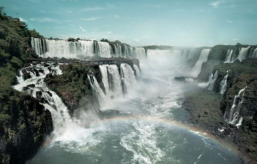 These are the largest waterfalls in the world, and they straddle Brazil's border.