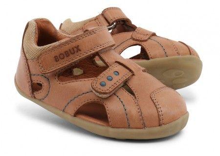 Bobux Step Up Chase Caramel Sandals - Bobux - Little Wanderers