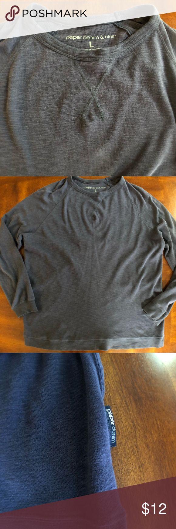 Paper Denim long sleeve shirt Men's Paper Denim size Large long sleeve blue shirt. Good used condition Paper Denim & Cloth Shirts Tees - Long Sleeve