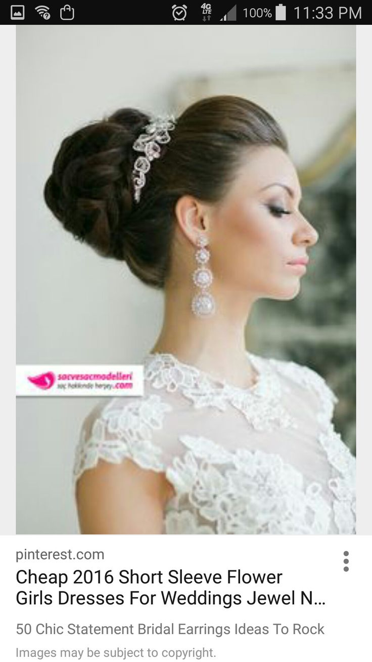 234 best wedding images on Pinterest | Bridal hairstyles, Wedding ...