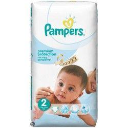 Pack d'une quantité de 60 Couches Pampers New Baby Sensitive de taille 2 sur Couches Zone