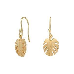 Nordahl Jewellery - Forgyldt sølv Leaf øreringe 325 580-3