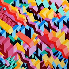 geometric painting - Google Search  PoppedBalloon Logo Reference