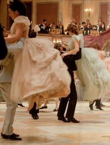 Shall we dance? It must be so romantic to be spun around in a huge  ball gown