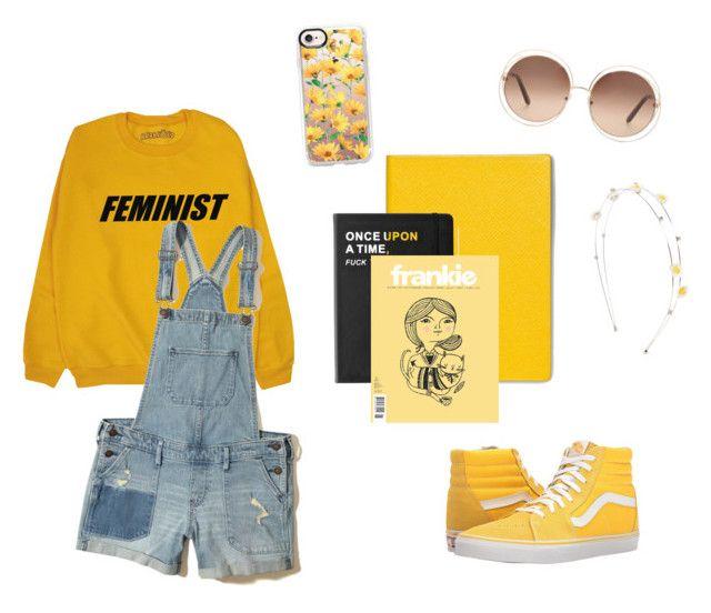 """Little yellow"" by masulen on Polyvore featuring moda, Casetify, Smythson, Hollister Co., Vans, Killstar i Chloé"