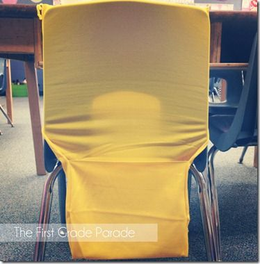 Using Target stretchable book covers as seat sacks for books!  Awesome idea!  And at $1 each, you can't beat it.