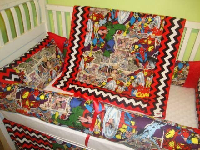 Avengers Crib Bedding Www Sewunexpectedthreads Etsy Com