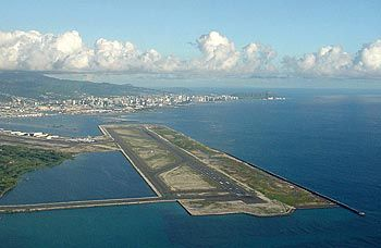 HNL - Honolulu International Airport, Shared with the military.  I love to see our fighter planes setting on the runway when we arrive.  God Bless America