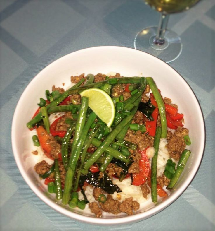 Thai Beef Stir Fry I lucked out getting this recipe.  My friend subscribes to Hello Fresh, and she gave me a week of free meals!  That was pretty exciting.  I didn't keep the subscription after the…