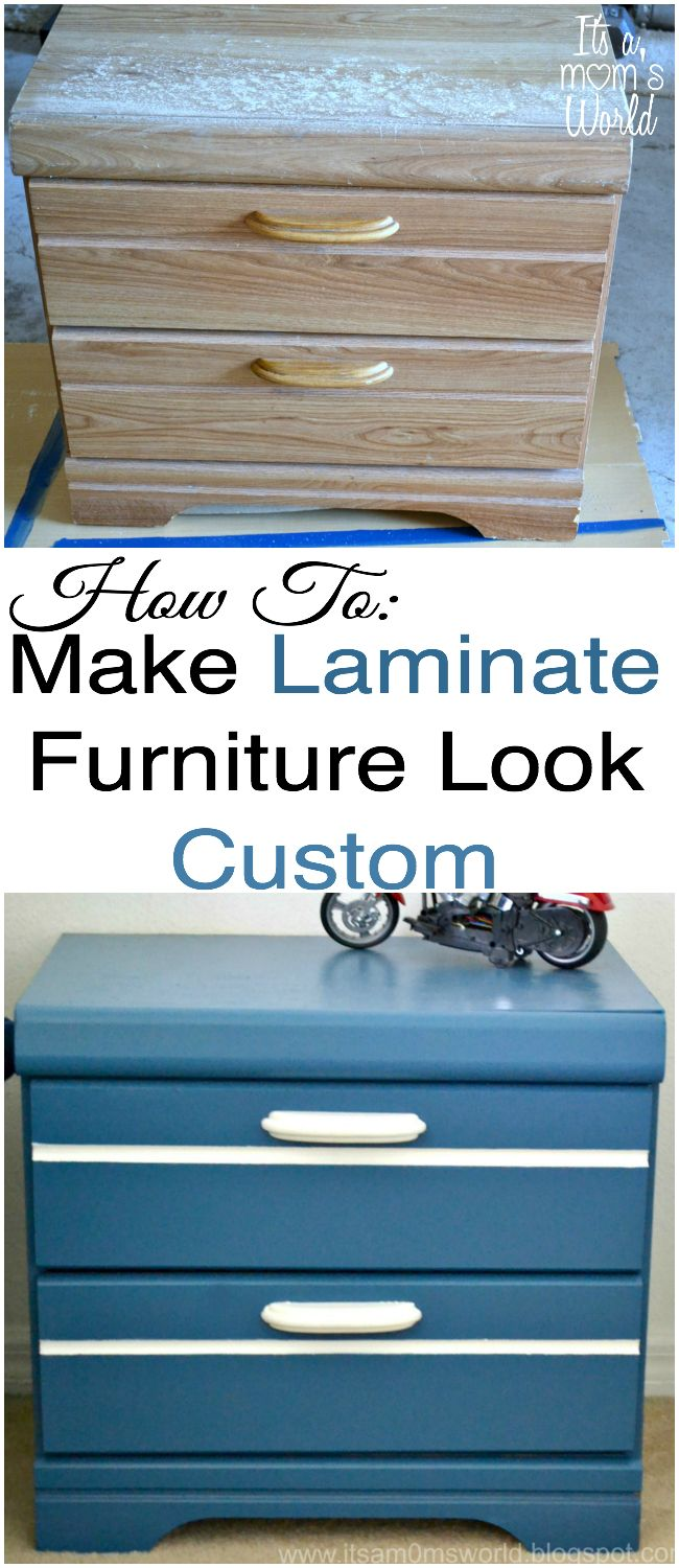 How To Paint Laminate Furniture To Look Custom