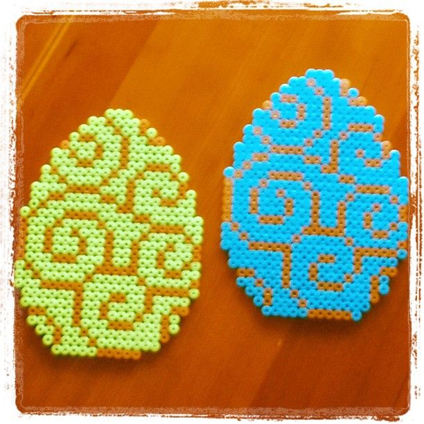 Easter eggs hama beads by sofievindum