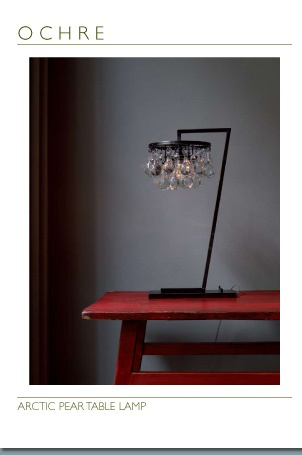 Chandelier desk lamp !?! makes for an elegant work space