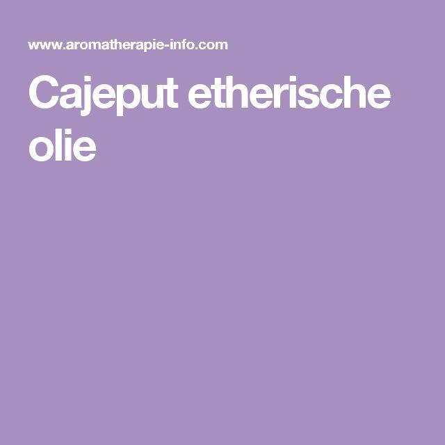 Cajeput etherische olie